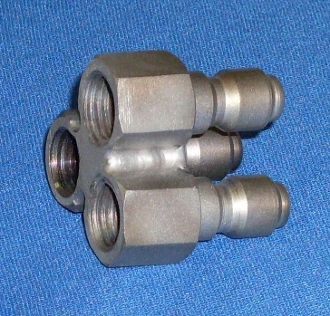 NOZZLE HOLDER TRI BANGER, TRIBANGER NOZZLE HOLDER (HOLDS THREE MEG NOZZLES) NHTB, NHTB, TRIBANGER, TRIBANGER NOZZLE HOLDER (HOLDS 3 1/4 MEG NOZZLES) NHTB