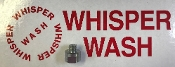 WHISPER WASH REDUCER 3/8 FPT X 1/4 MPT CONNECTS SHAFT TO BAR, WW400