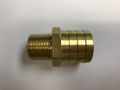 "HB1608BRASS 1"" BARB X 1/2"" MPT BRASS,BRASS 1"" HOSE BARB X 1/2"" MPT MALE PIPE THREAD HEAVY DUTY,"