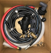 "8-12 GPM PRESSURE WASHER PLUMBING KIT, HOW TO PLUMB A PRESSURE WASHER, PLUMBING KIT, 1.5"" ID SUCTION HOSE KIT, Y STRAINER, 1.5"" HOSE BARBS, 8-12 GPM PRESSURE WASHER PLUMBING KIT FOR AN IBC TOTE SQUARE TANK"