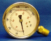 "S.S. PRESSURE GAUGE 3000 PSI 1/4"" MPT, S.S. PRESSURE BOTTOM MOUNT GAUGE 3000 PSI 1/4"" MPT"
