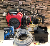 ALUMINUM SKID MOUNTED COLD 8 GPM 3500 PSI PSI BANDIT PRESSURE WASHER BK8035HG W/ K7.3 , 8 gpm Bandit