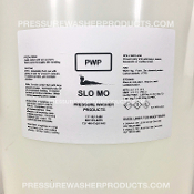 SLO MO SOFTWASH SURFACTANT FOR SODIUM HYPOCHLORITE THICK SURFACTANT, LEMONAIDE, SLOW MO, SLOWMOW SURFACTANT, SLOMO, ULTRA THICK SURFACTANT, PWP SOAP, SLOWMO